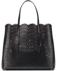 Alaïa Mina Large Leather Tote - Black