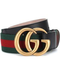 Gucci GG Marmont Web Belt - Red