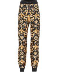 Versace Pantalones de chándal de seda - Multicolor