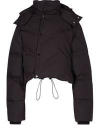 Bottega Veneta Hooded Down Jacket - Brown
