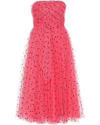 Carolina Herrera Bandeau-Kleid aus Tüll - Pink