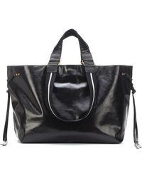 Isabel Marant Wardy Large Leather Shopper - Black