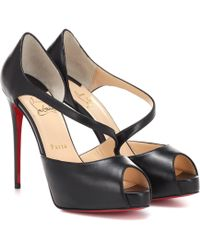 Christian Louboutin Catchy Two 120 Peep-toe Pumps - Black