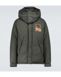 Undercover Printed Hooded Puffer Jacket - Green