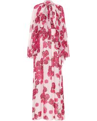 Giambattista Valli Floral-printed Silk Maxi Dress - Pink