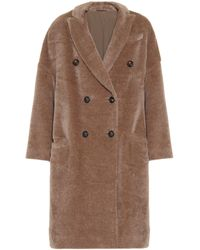 Brunello Cucinelli Alpaca And Wool Coat - Brown