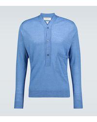 Rochas Pullover aus Leinen und Kaschmir - Blau