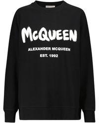 Alexander McQueen Logo Cotton Sweatshirt - Black