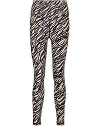 The Upside Zebra-print leggings - Black