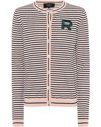 Rochas - Cardigan en coton rayé - Lyst