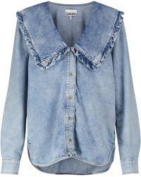 Ganni Chemise en jean - Bleu