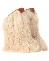 Saint Laurent - Fur Ankle Boots - Lyst