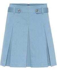 RED Valentino Stretch-cotton Miniskirt - Blue
