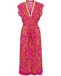 Poupette Sasha Printed Midi Dress - Pink