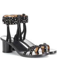 Isabel Marant Joakee Suede Sandals - Black