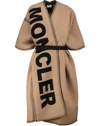 Moncler Poncho en mezcla de lana - Neutro