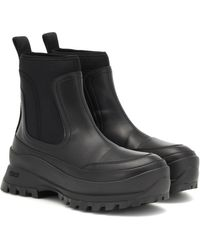 Stella McCartney Utility Faux Leather Ankle Boots - Black