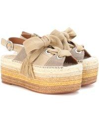 Chloé Espadrille Platform Sandals - Green