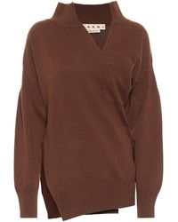 Marni Cashmere-blend Sweater - Brown