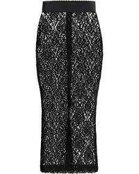 Dolce & Gabbana - Falda tubo de encaje - Lyst