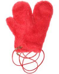 Max Mara Agar Alpaca, Wool And Silk Mittens - Red