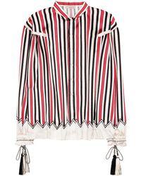 Etro - Striped Silk Shirt - Lyst