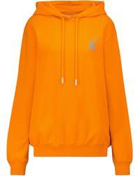 Off-White c/o Virgil Abloh Hoodie Arrows aus Baumwoll-Jersey - Orange