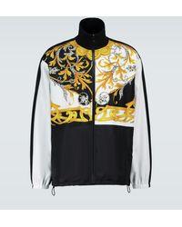 Versace Baroque Printed Sport Jacket - Black