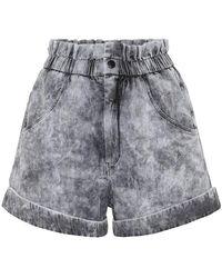 Étoile Isabel Marant Shorts di jeans Cinyab a vita alta - Nero