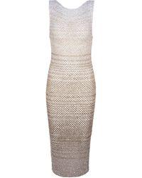 Missoni Sequined Knit Midi Dress - Natural