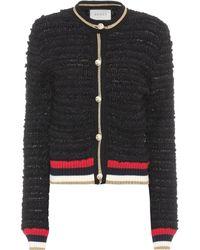 Gucci - Cotton-blend Tweed Cardigan - Lyst