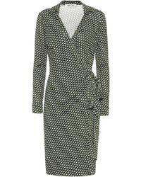 Diane von Furstenberg Robe portefeuille Jeanne Two imprimée en soie - Vert