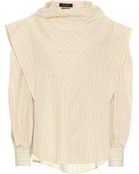 Isabel Marant Blusa Welly de seda y algodón - Amarillo