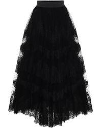 Dolce & Gabbana Tulle Maxi Skirt - Black