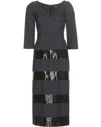 Marc Jacobs - Abito in lana jacquard con decorazione - Lyst