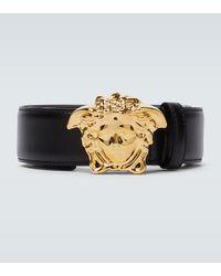 Versace Cinturón Palazzo con hebilla Medusa - Negro