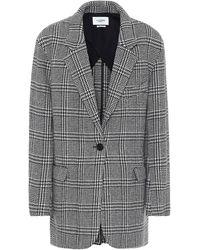 Étoile Isabel Marant Ondine Checked Wool-blend Jacket - Grey