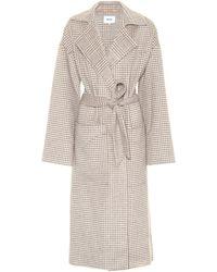 Nanushka Alamo Wool And Silk Coat - Gray