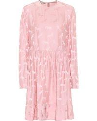 Stella McCartney Minikleid aus Jacquard - Pink