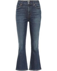 Citizens of Humanity Demy High-rise Cropped Jeans - Blue