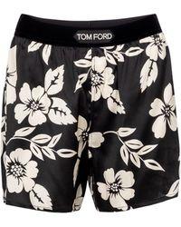 Tom Ford Shorts aus einem Seidengemisch - Schwarz