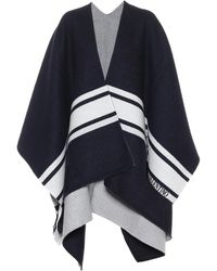 Valentino Garavani Wool And Cashmere Cape - Blue