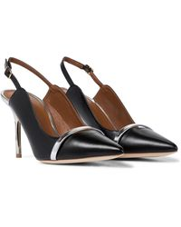 Malone Souliers Marion 85 Leather Slingback Pumps - Black