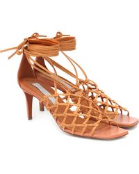Stella McCartney Ankle-tie Sandals - Brown