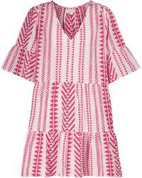 Velvet Mini-robe Madelina en coton - Rose