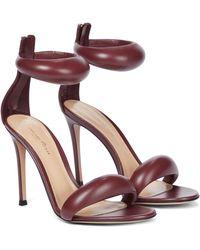 Gianvito Rossi Bijoux 105 Leather Sandals - Red