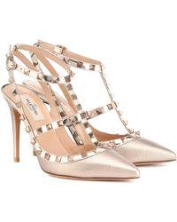 Valentino Garavani Rockstud Metallic Leather Court Shoes - Multicolour