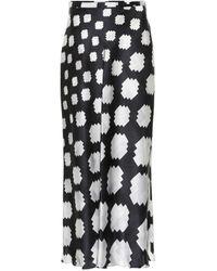 Marni Geometric Print Skirt - Black