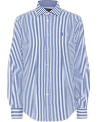 Polo Ralph Lauren Bluse aus Baumwolle - Blau