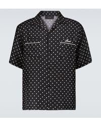 Amiri Camisa de seda de lunares - Negro